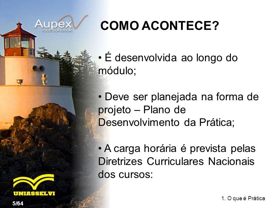 COMO ACONTECE É desenvolvida ao longo do módulo;