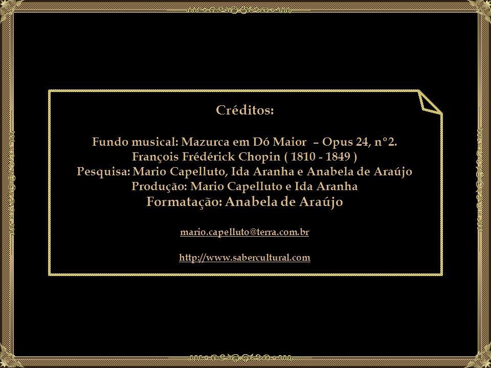 Créditos: Formatação: Anabela de Araújo