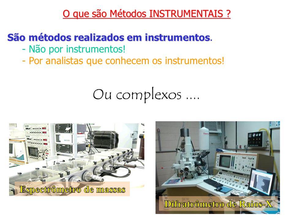 Espectrômetro de massas Difratrômetro de Raios-X
