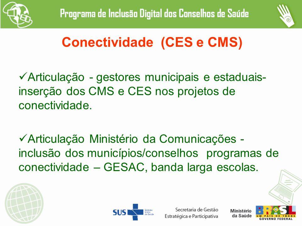 Conectividade (CES e CMS)