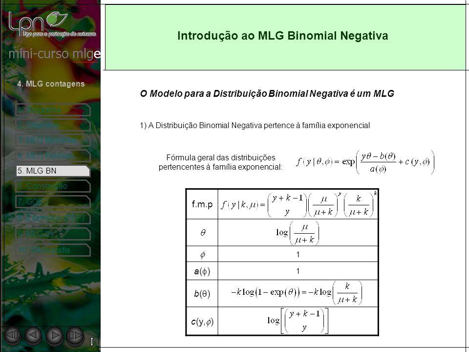 Introdução ao MLG Binomial Negativa