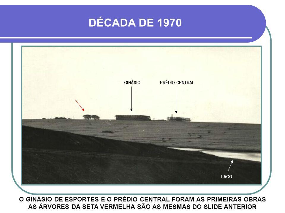 DÉCADA DE 1970 GINÁSIO. PRÉDIO CENTRAL. LAGO.