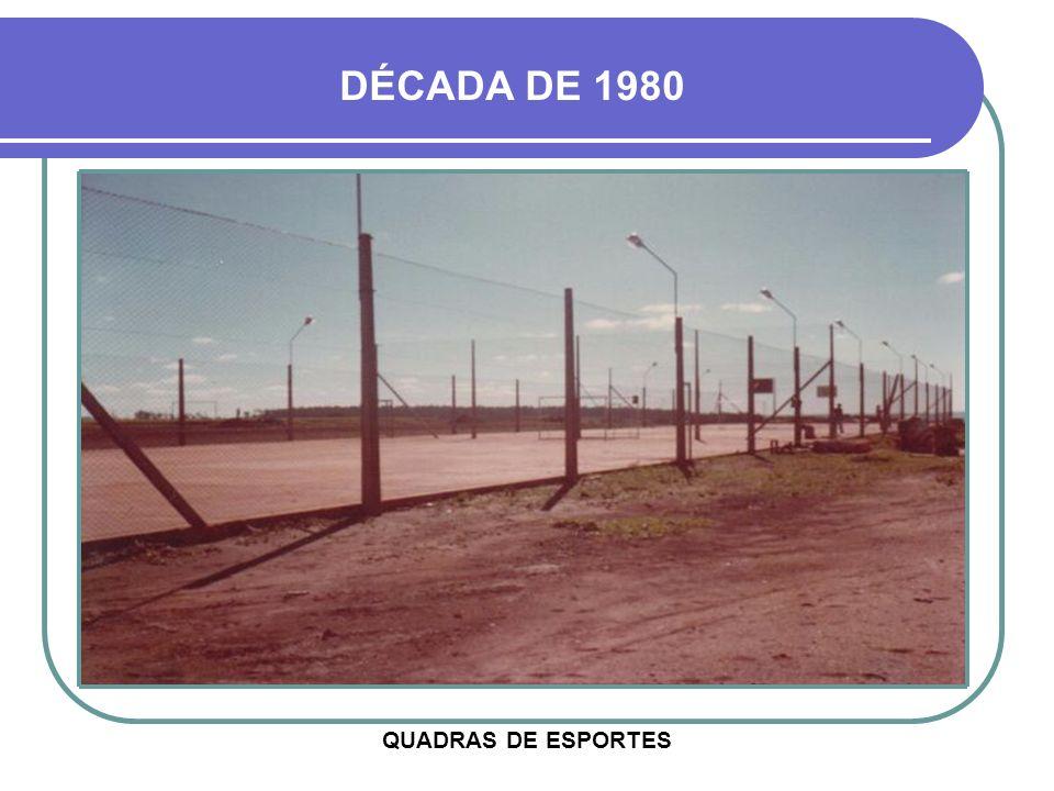 DÉCADA DE 1980 QUADRAS DE ESPORTES