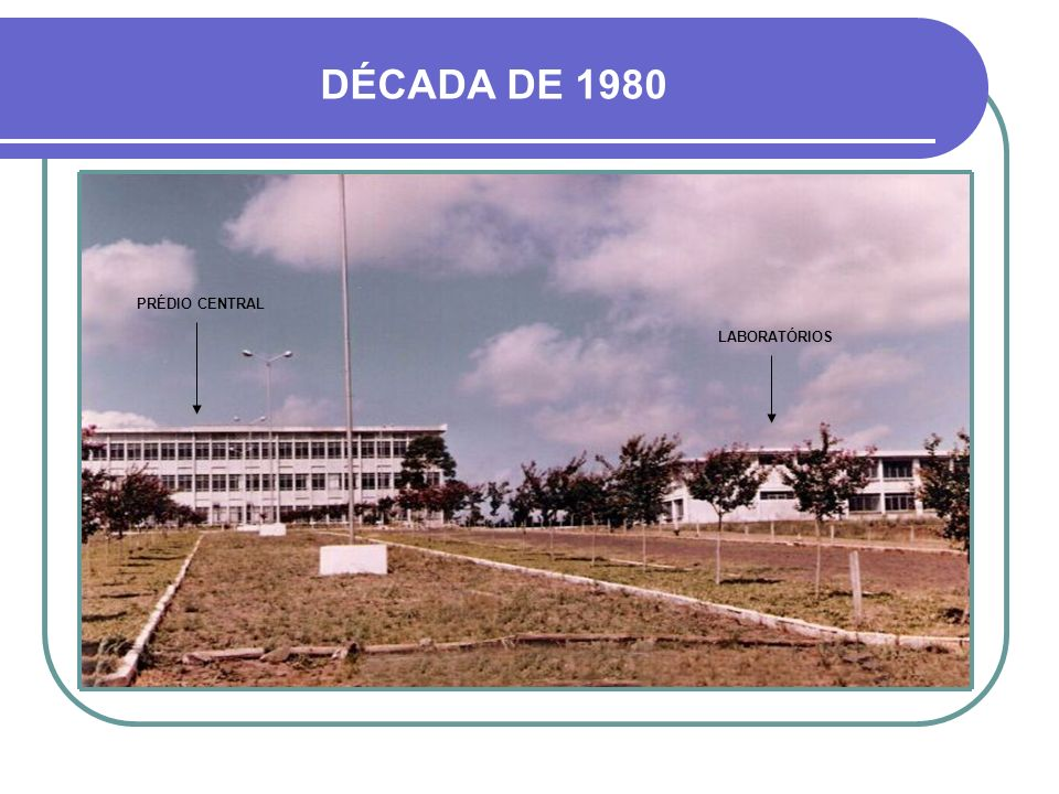 DÉCADA DE 1980 PRÉDIO CENTRAL LABORATÓRIOS