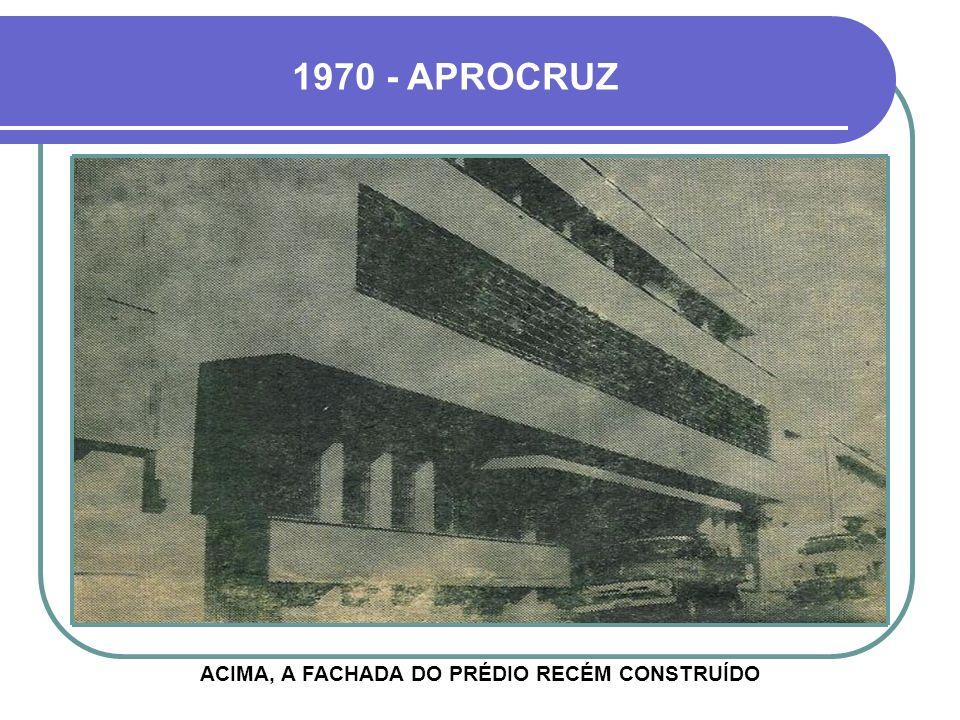 ACIMA, A FACHADA DO PRÉDIO RECÉM CONSTRUÍDO