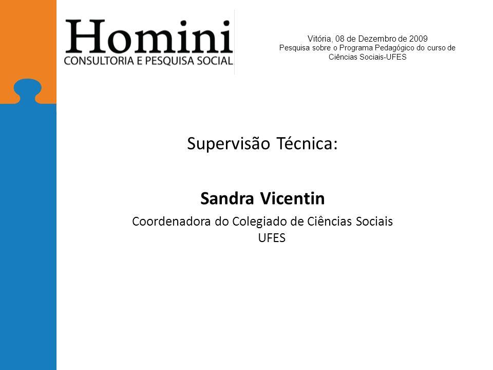 Coordenadora do Colegiado de Ciências Sociais UFES