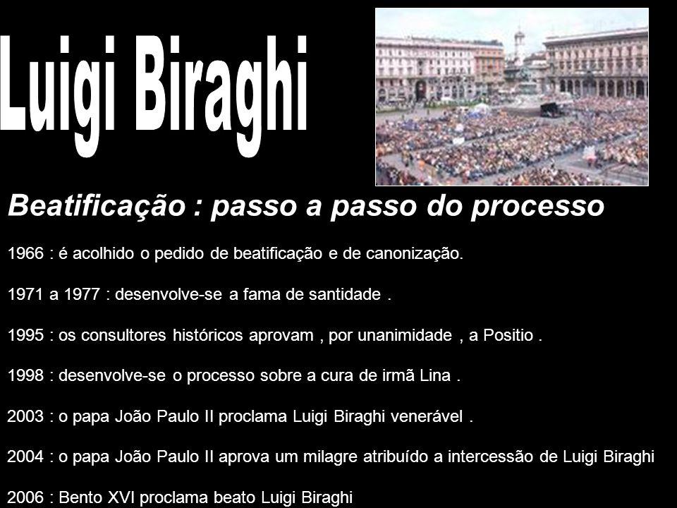 Luigi Biraghi Beatificação : passo a passo do processo