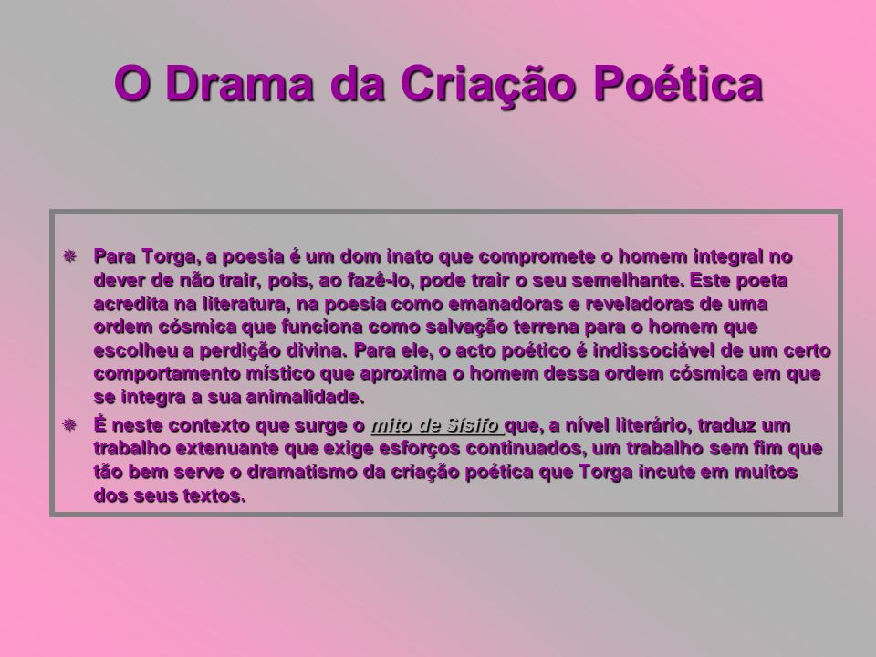 O Drama da Criação Poética