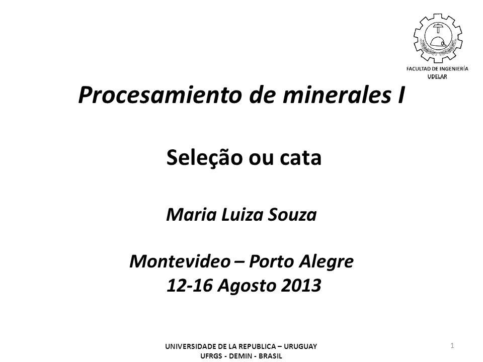 Procesamiento de minerales I Seleção ou cata