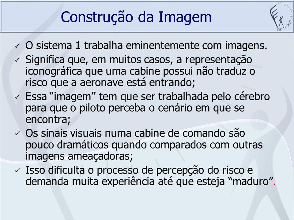 Construção da Imagem O sistema 1 trabalha eminentemente com imagens.