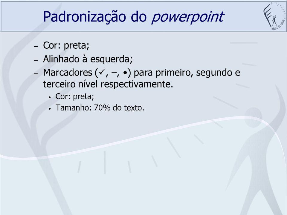 Padronização do powerpoint