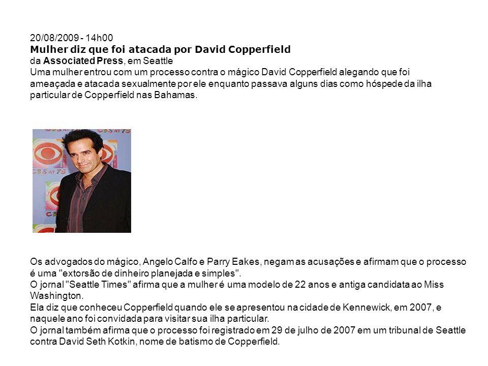 Mulher diz que foi atacada por David Copperfield