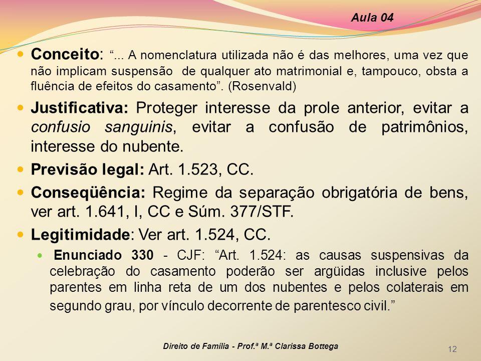 Legitimidade: Ver art. 1.524, CC.