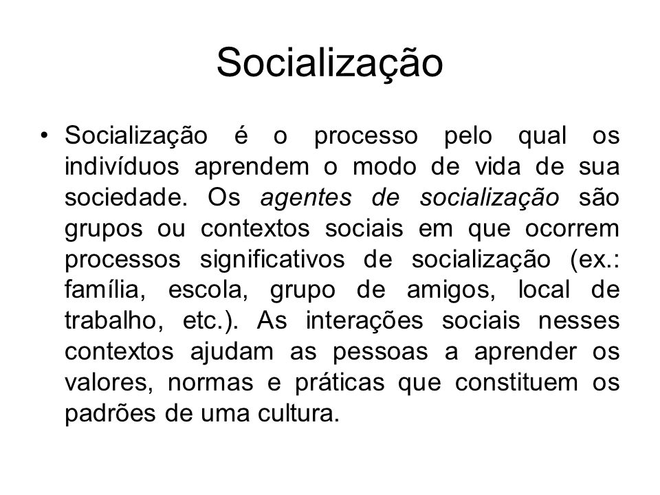 Socialização