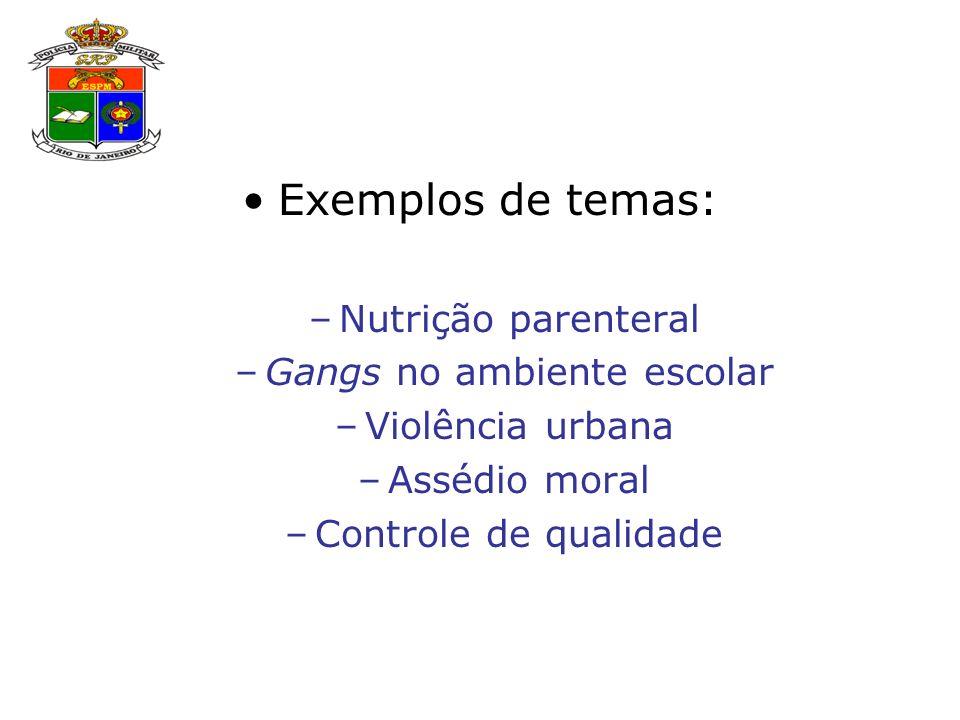 Gangs no ambiente escolar