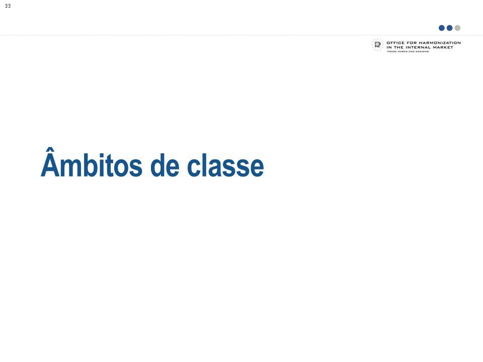 Âmbitos de classe Um dos resultados diretos da Taxonomia é a criação dos âmbitos de classe.
