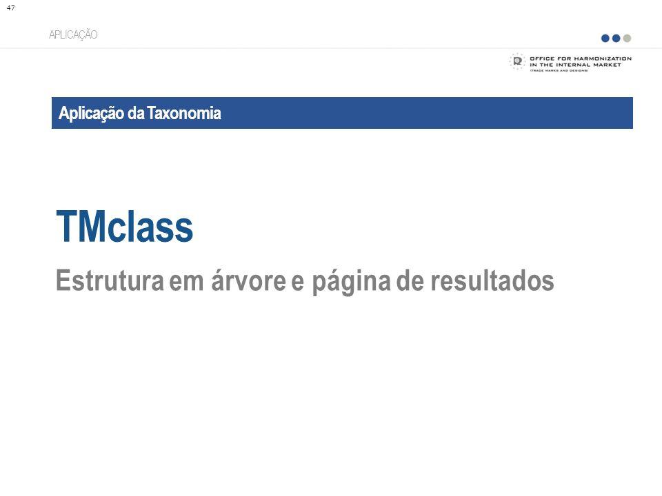 TMclass Estrutura em árvore e página de resultados