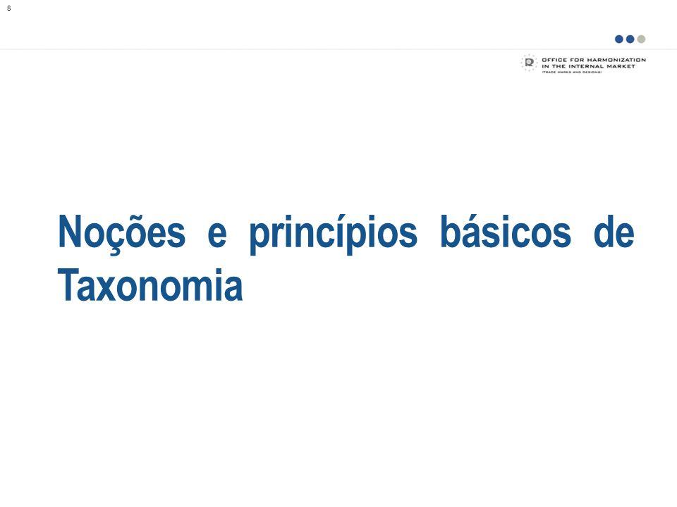 Noções e princípios básicos de Taxonomia