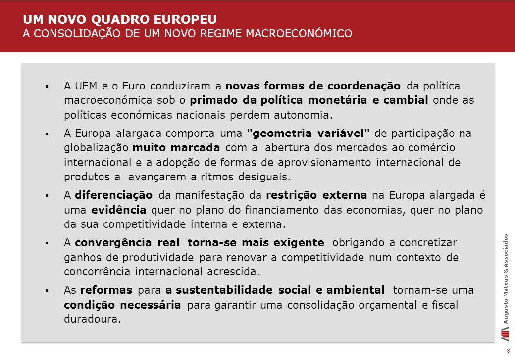 UM NOVO QUADRO EUROPEU A CONSOLIDAÇÃO DE UM NOVO REGIME MACROECONÓMICO