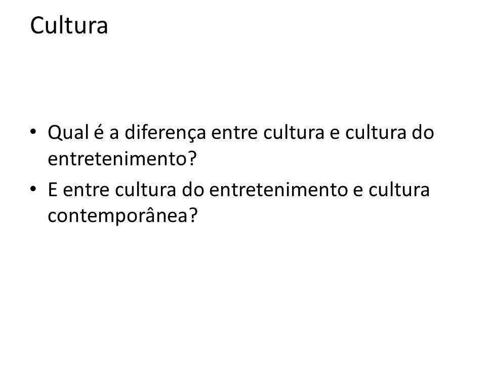 Cultura Qual é a diferença entre cultura e cultura do entretenimento