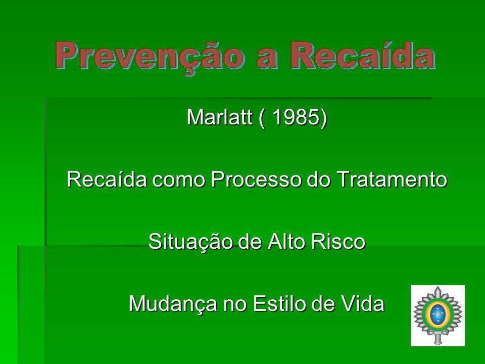 Prevenção a Recaída Marlatt ( 1985)