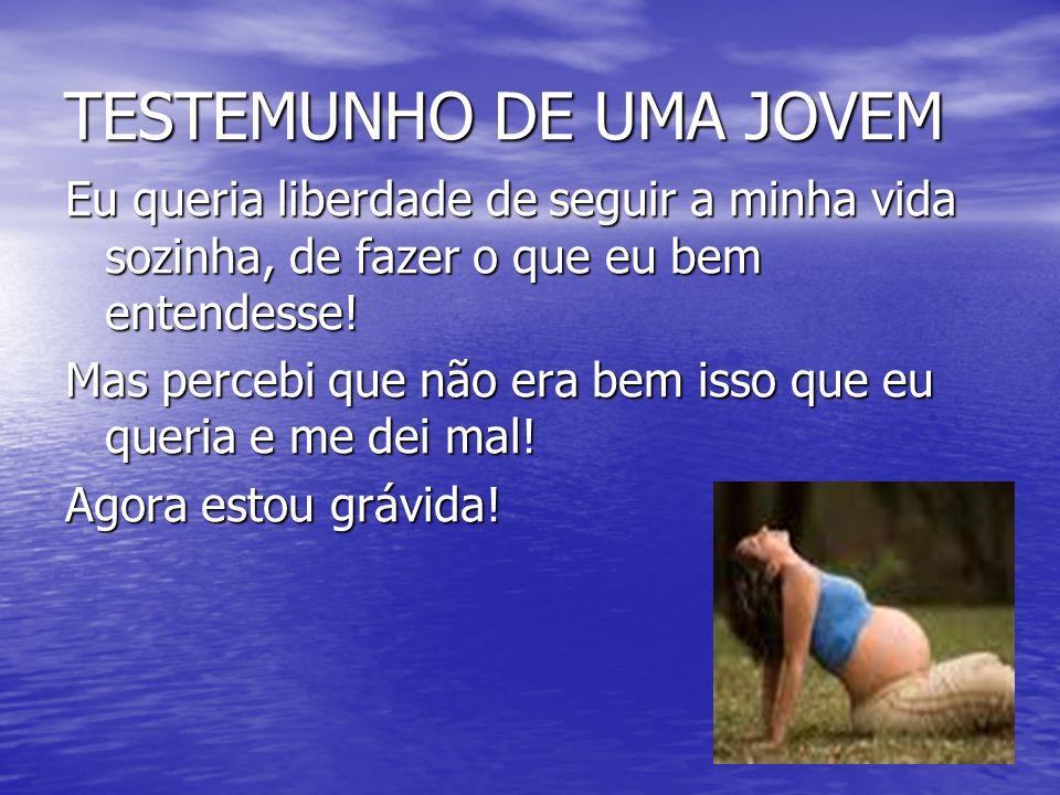 TESTEMUNHO DE UMA JOVEM