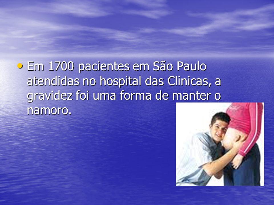 Em 1700 pacientes em São Paulo atendidas no hospital das Clinicas, a gravidez foi uma forma de manter o namoro.