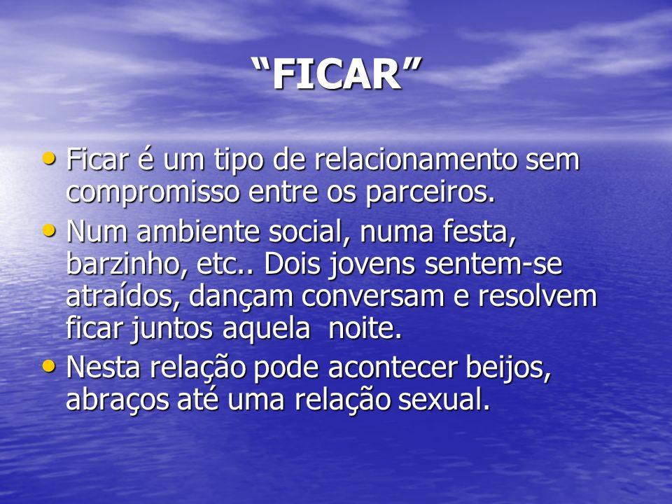 FICAR Ficar é um tipo de relacionamento sem compromisso entre os parceiros.