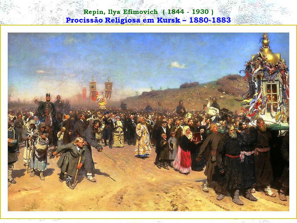 Repin, Ilya Efimovich ( 1844 - 1930 ) Procissão Religiosa em Kursk – 1880-1883