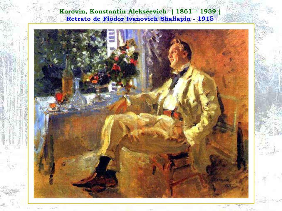 Korovin, Konstantin Alekseevich ( 1861 – 1939 ) Retrato de Fiodor Ivanovich Shaliapin - 1915
