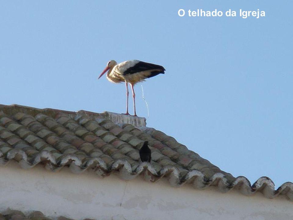O telhado da Igreja