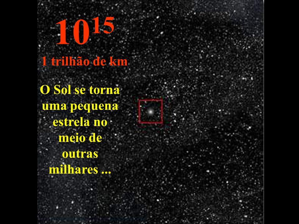 O Sol se torna uma pequena estrela no meio de outras milhares ...