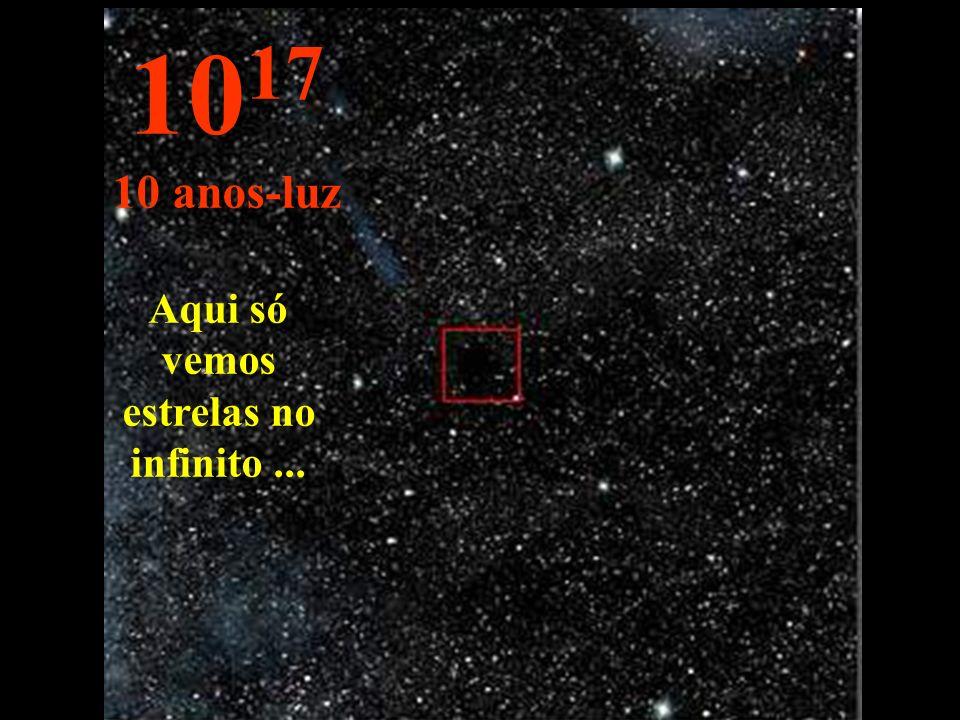 Aqui só vemos estrelas no infinito ...