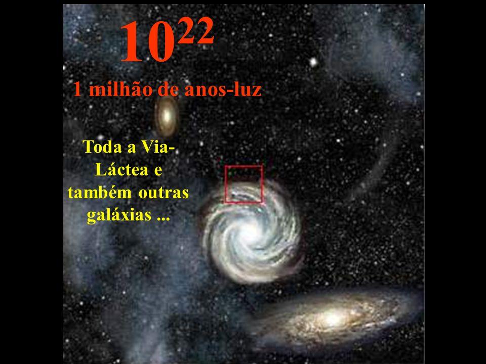 Toda a Via-Láctea e também outras galáxias ...