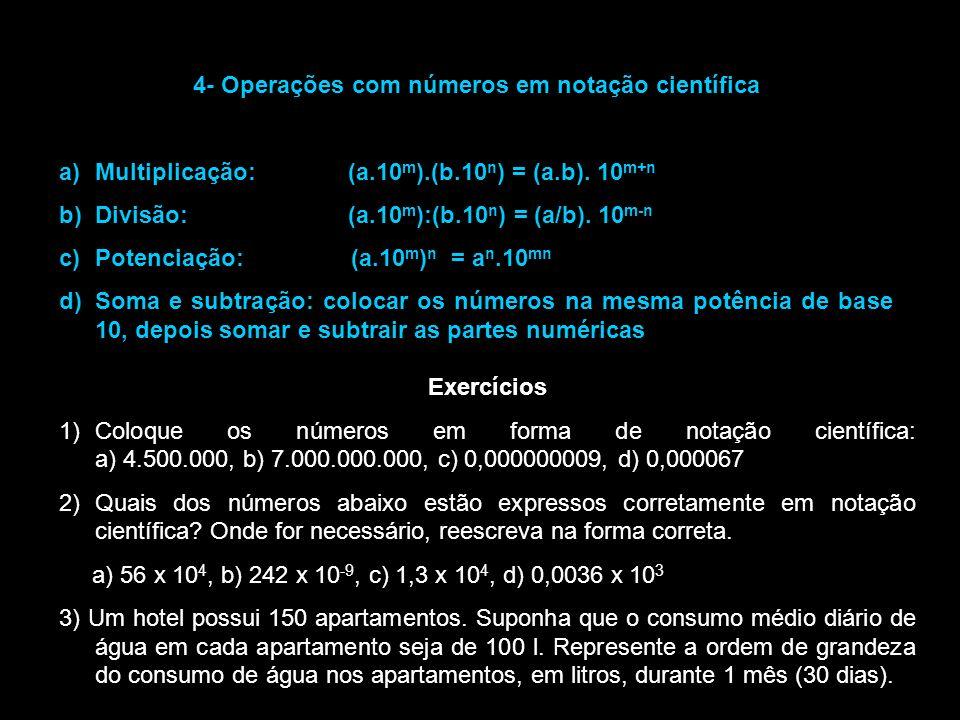 4- Operações com números em notação científica