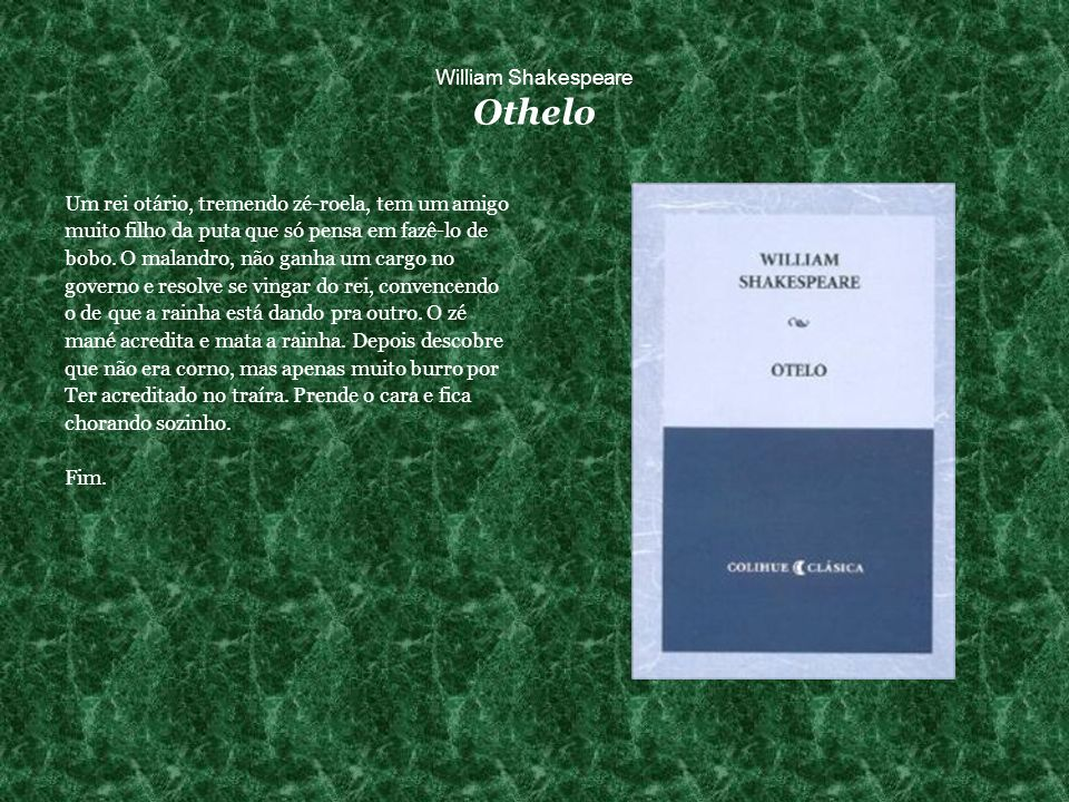 William Shakespeare Othelo