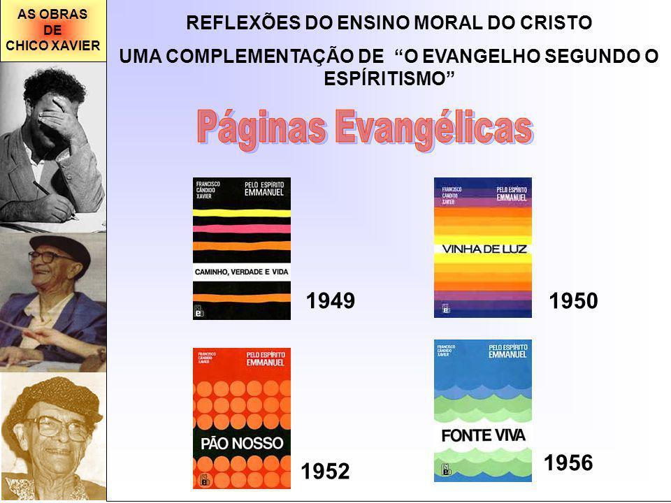 AS OBRAS DE. CHICO XAVIER. REFLEXÕES DO ENSINO MORAL DO CRISTO. UMA COMPLEMENTAÇÃO DE O EVANGELHO SEGUNDO O ESPÍRITISMO