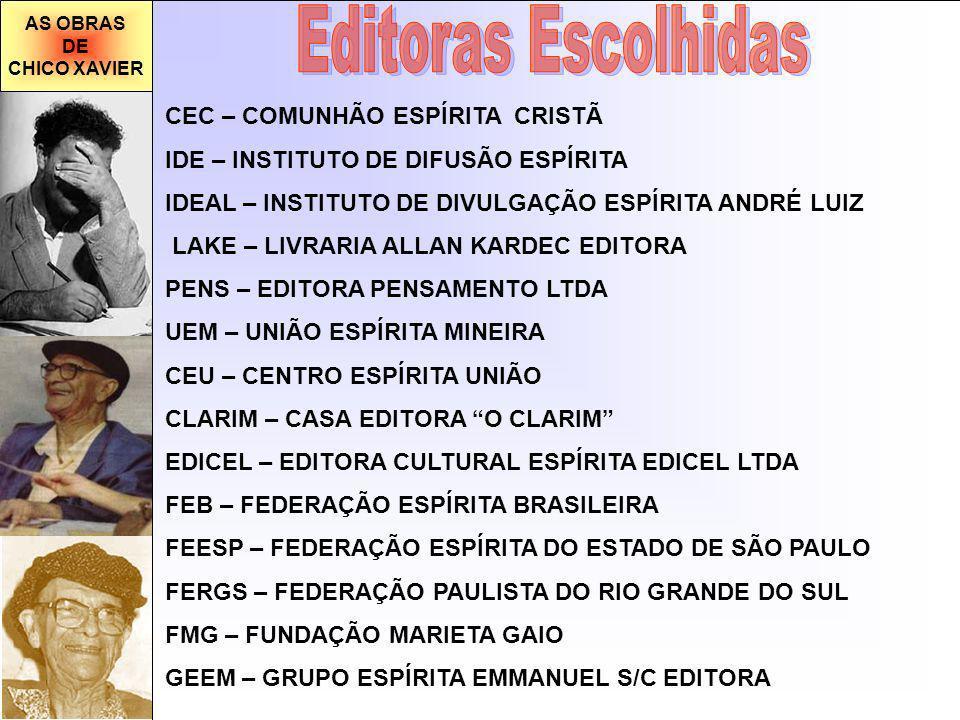 Editoras Escolhidas CEC – COMUNHÃO ESPÍRITA CRISTÃ