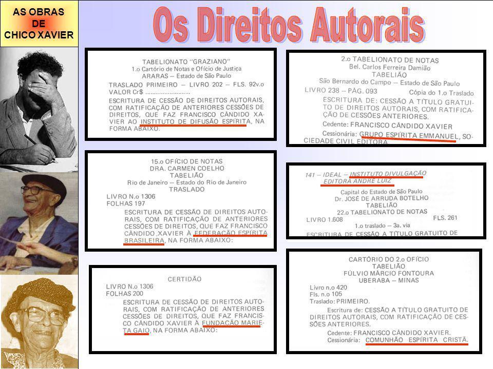 AS OBRAS DE CHICO XAVIER Os Direitos Autorais