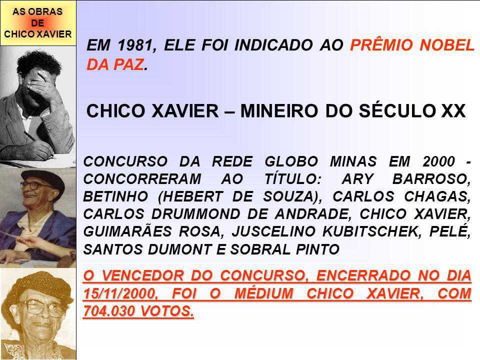 CHICO XAVIER – MINEIRO DO SÉCULO XX