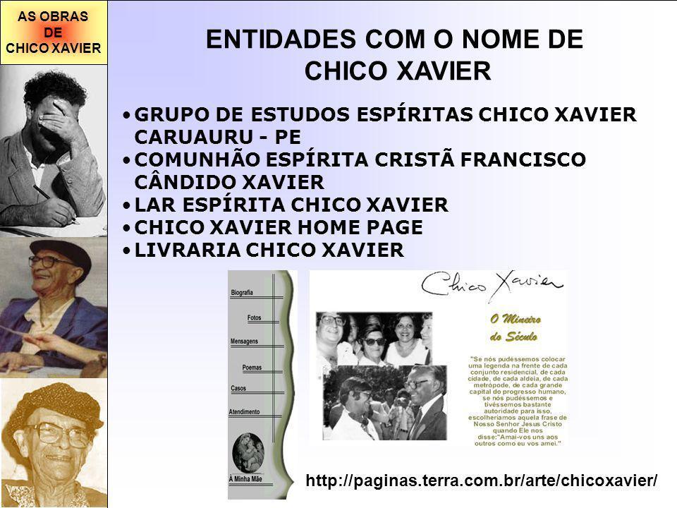 ENTIDADES COM O NOME DE CHICO XAVIER