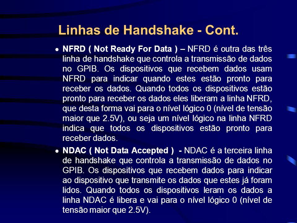 Linhas de Handshake - Cont.