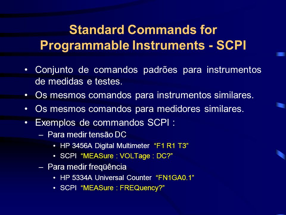 Standard Commands for Programmable Instruments - SCPI
