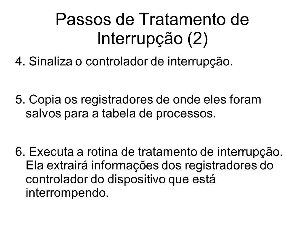 Passos de Tratamento de Interrupção (2)