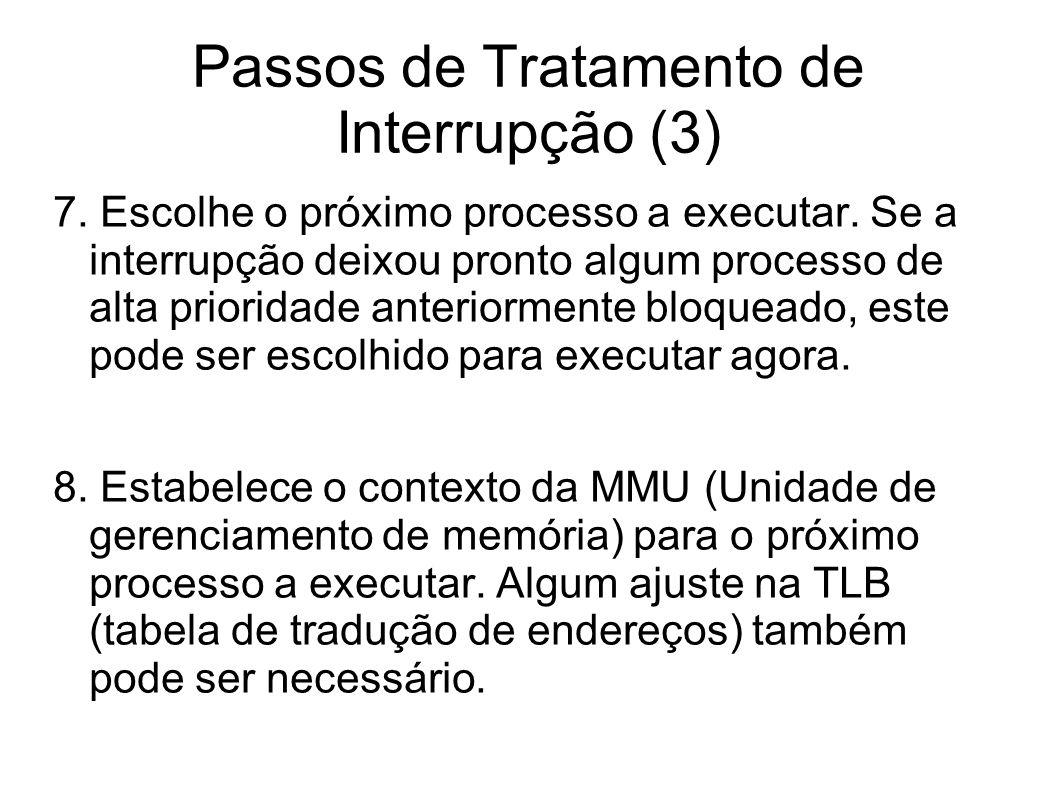 Passos de Tratamento de Interrupção (3)