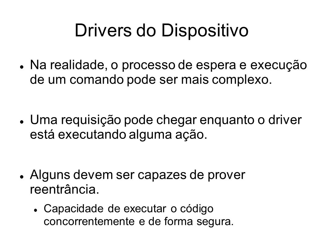 Drivers do Dispositivo