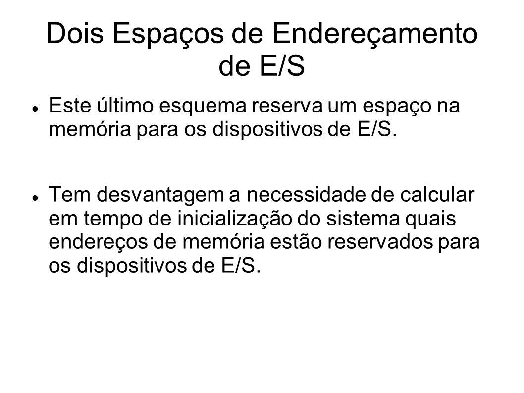 Dois Espaços de Endereçamento de E/S