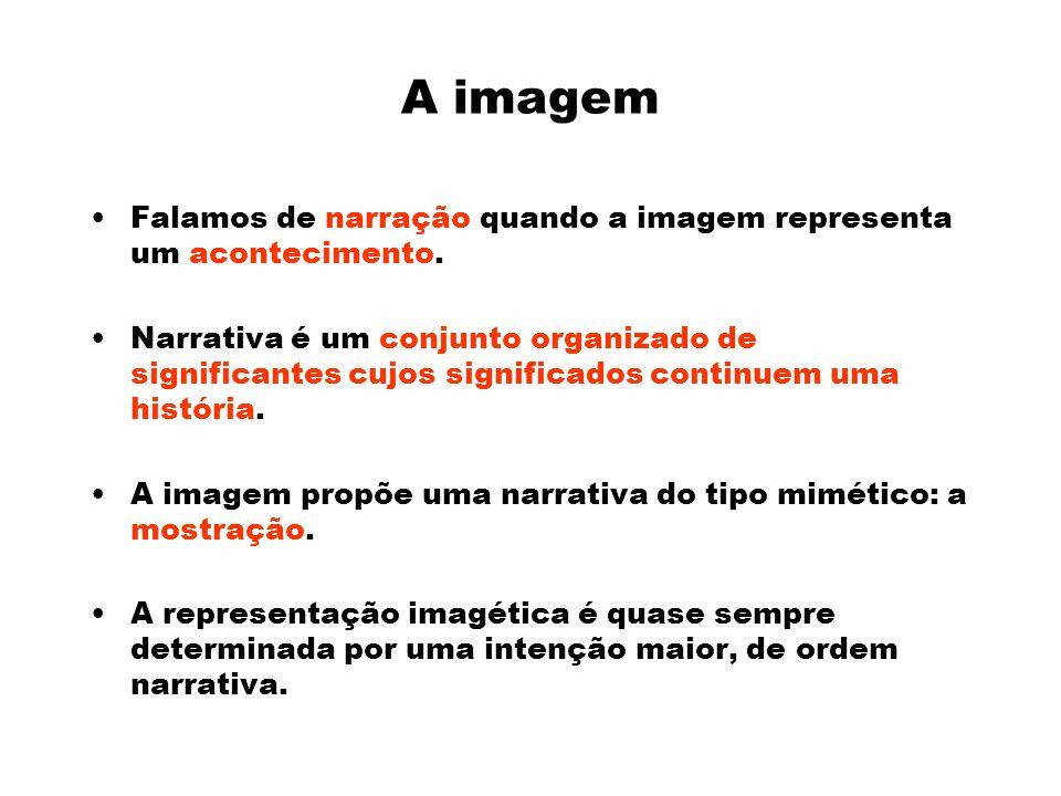 A imagem Falamos de narração quando a imagem representa um acontecimento.