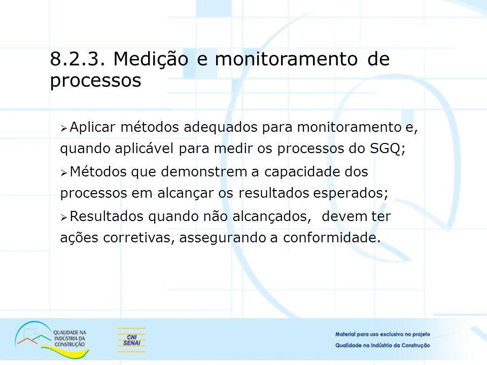 8.2.3. Medição e monitoramento de processos