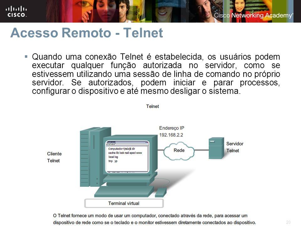 Acesso Remoto - Telnet